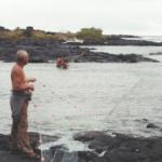 Ben Hauanio crossing the net at Keauhou